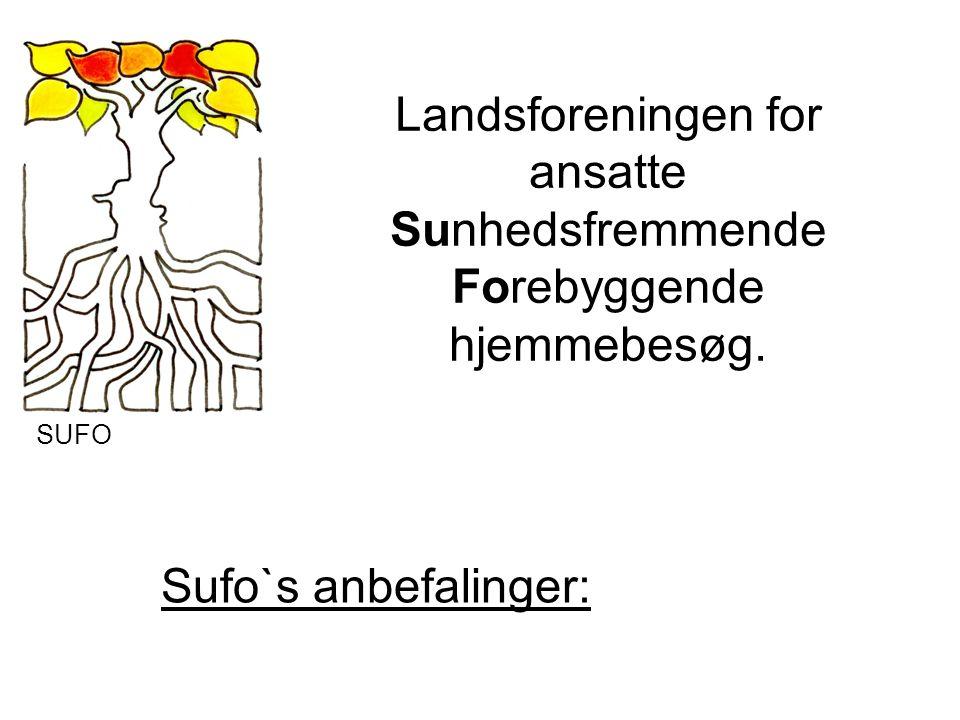 Landsforeningen for ansatte Sunhedsfremmende Forebyggende hjemmebesøg. Sufo`s anbefalinger: SUFO