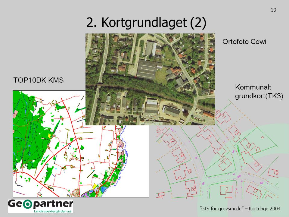 GIS for grovsmede – Kortdage 2004 13 2.