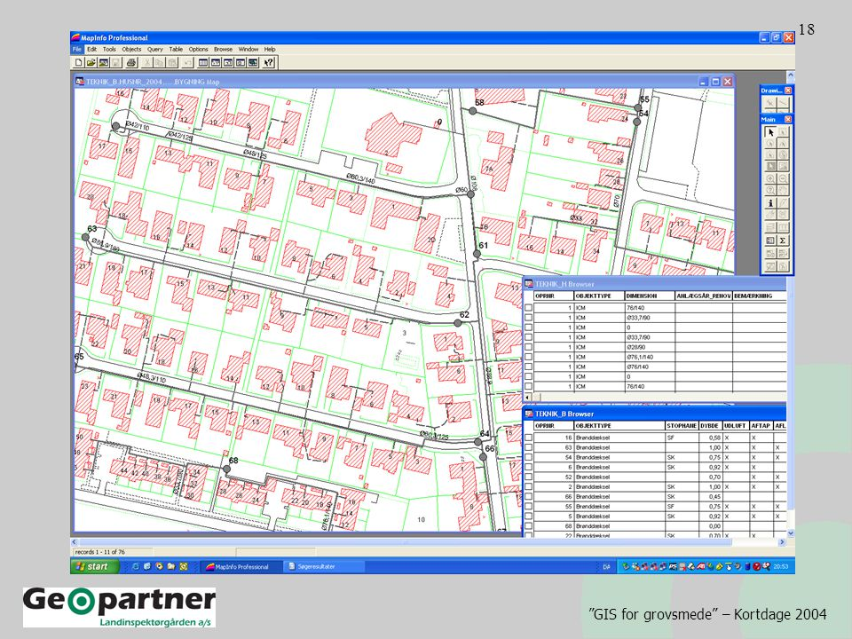 GIS for grovsmede – Kortdage 2004 18