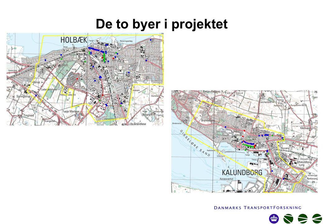 De to byer i projektet