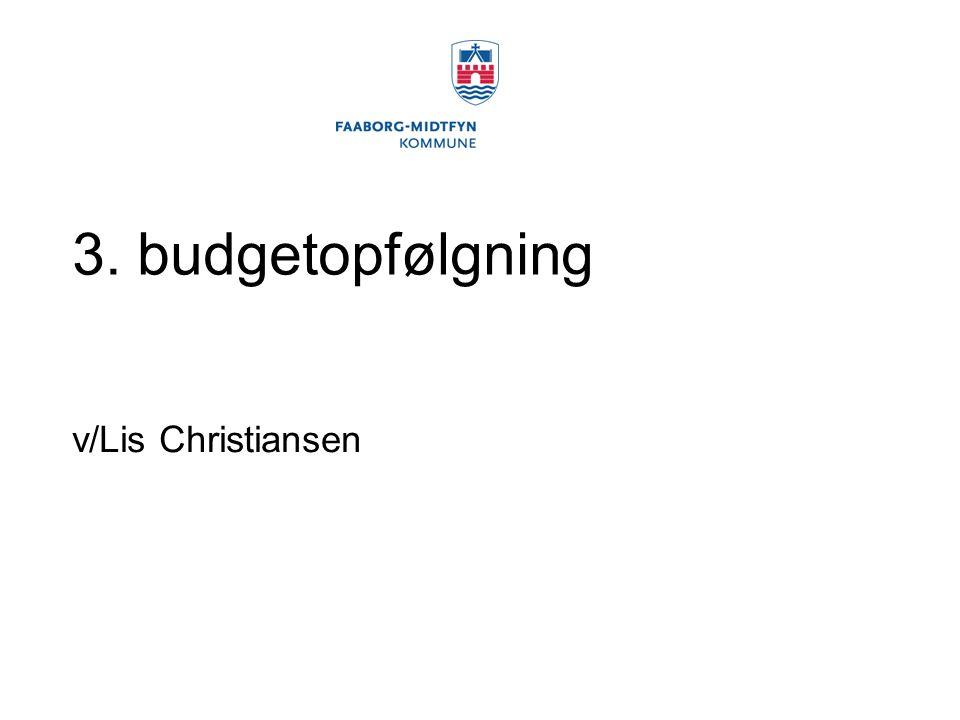 3. budgetopfølgning v/Lis Christiansen