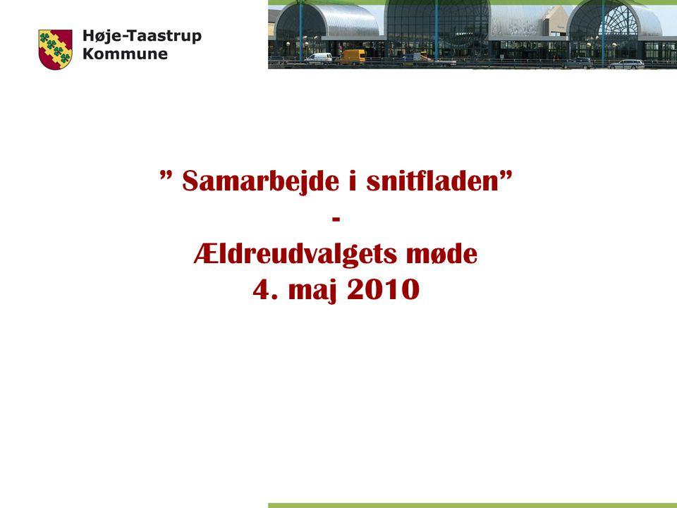 Samarbejde i snitfladen - Ældreudvalgets møde 4. maj 2010
