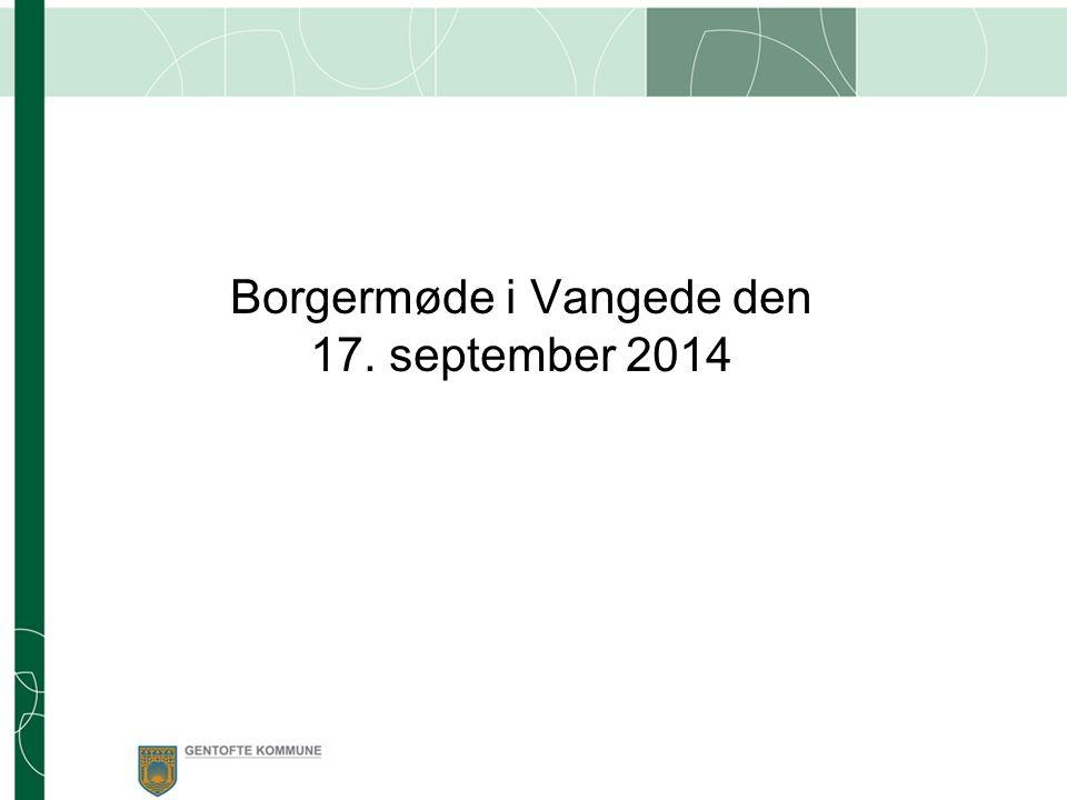 Borgermøde i Vangede den 17. september 2014