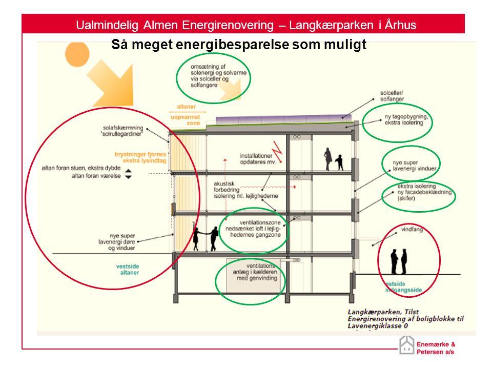 Ualmindelig Almen Energirenovering – Langkærparken i Århus Så meget energibesparelse som muligt