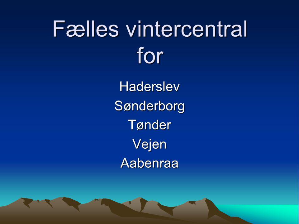 Fælles vintercentral for HaderslevSønderborgTønderVejenAabenraa