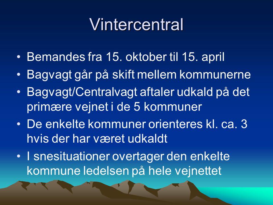 Vintercentral Bemandes fra 15. oktober til 15.