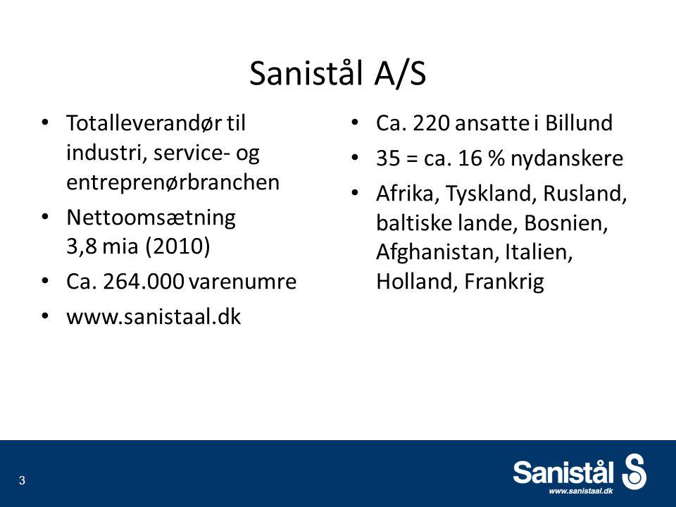 Totalleverandør til industri, service- og entreprenørbranchen Nettoomsætning 3,8 mia (2010) Ca.