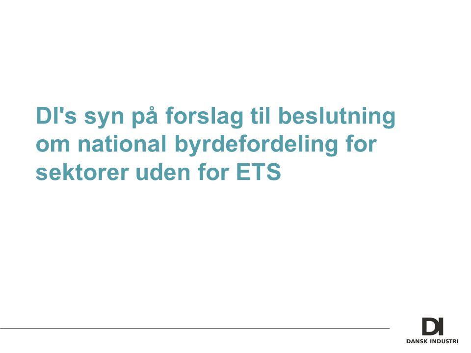 DI s syn på forslag til beslutning om national byrdefordeling for sektorer uden for ETS