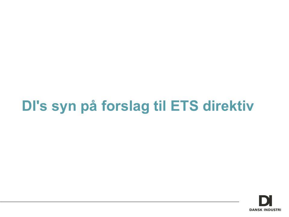 DI s syn på forslag til ETS direktiv
