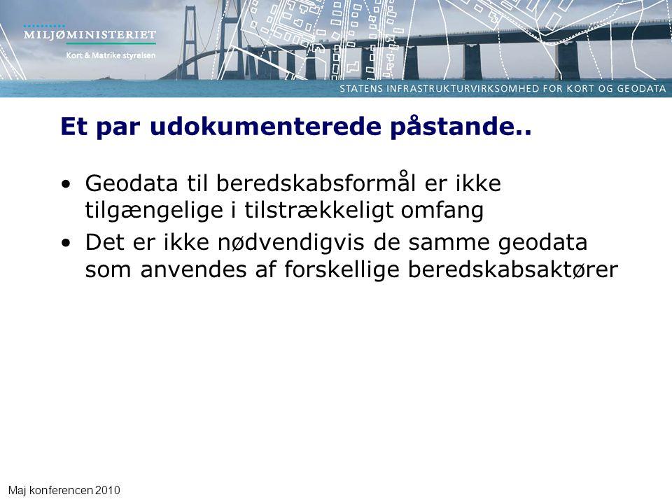 Maj konferencen 2010 Et par udokumenterede påstande..