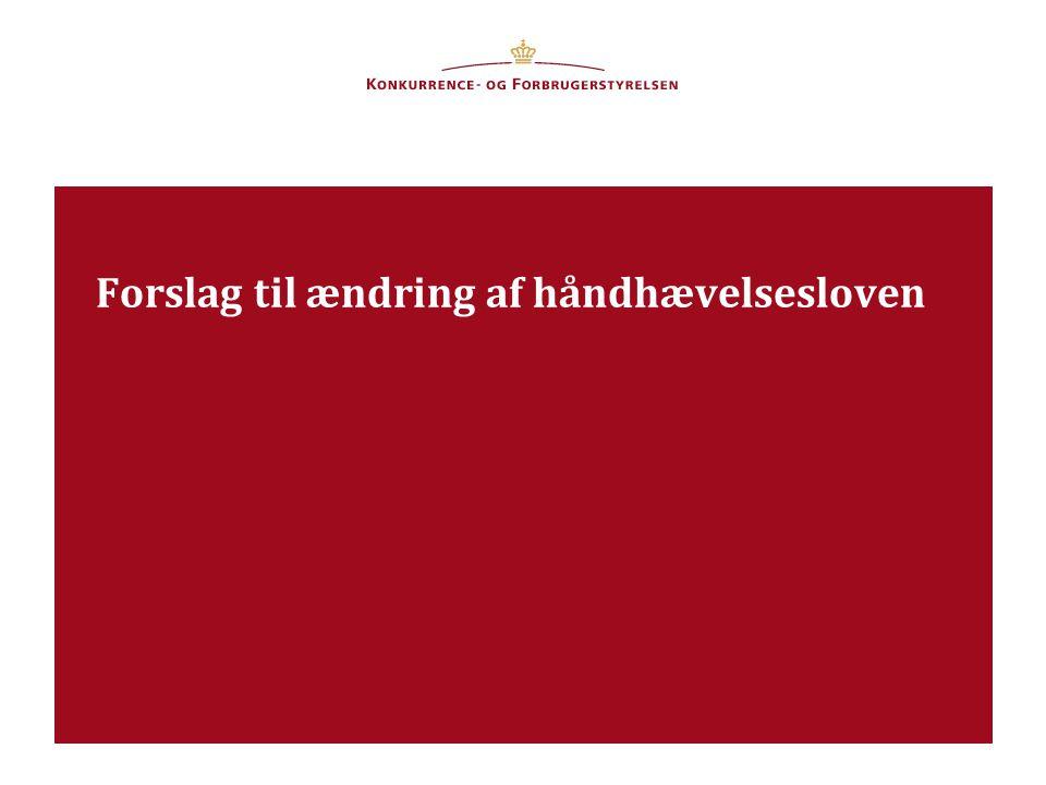 9. april 2013Dansk Forening for Udbudsret Forslag til ændring af håndhævelsesloven