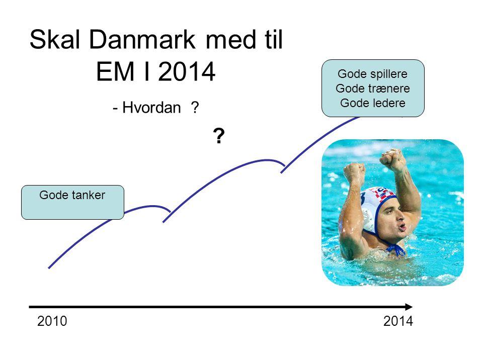 Skal Danmark med til EM I 2014 - Hvordan ? Gode tanker Gode spillere Gode trænere Gode ledere 20102014 ?