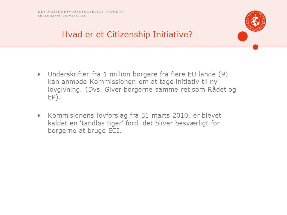 Hvad er et Citizenship Initiative.