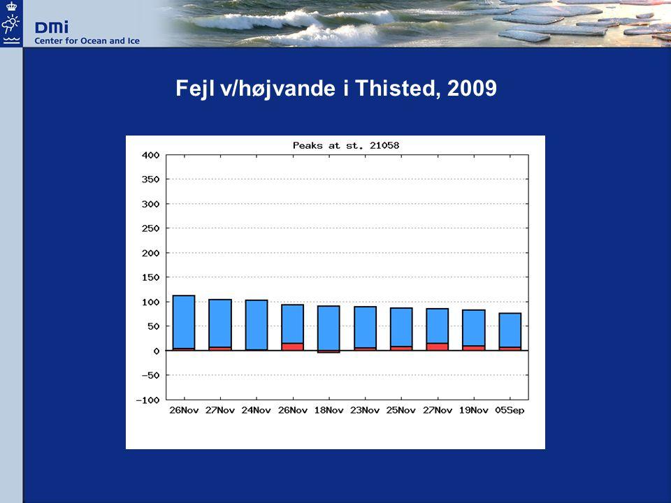 Fejl v/højvande i Thisted, 2009