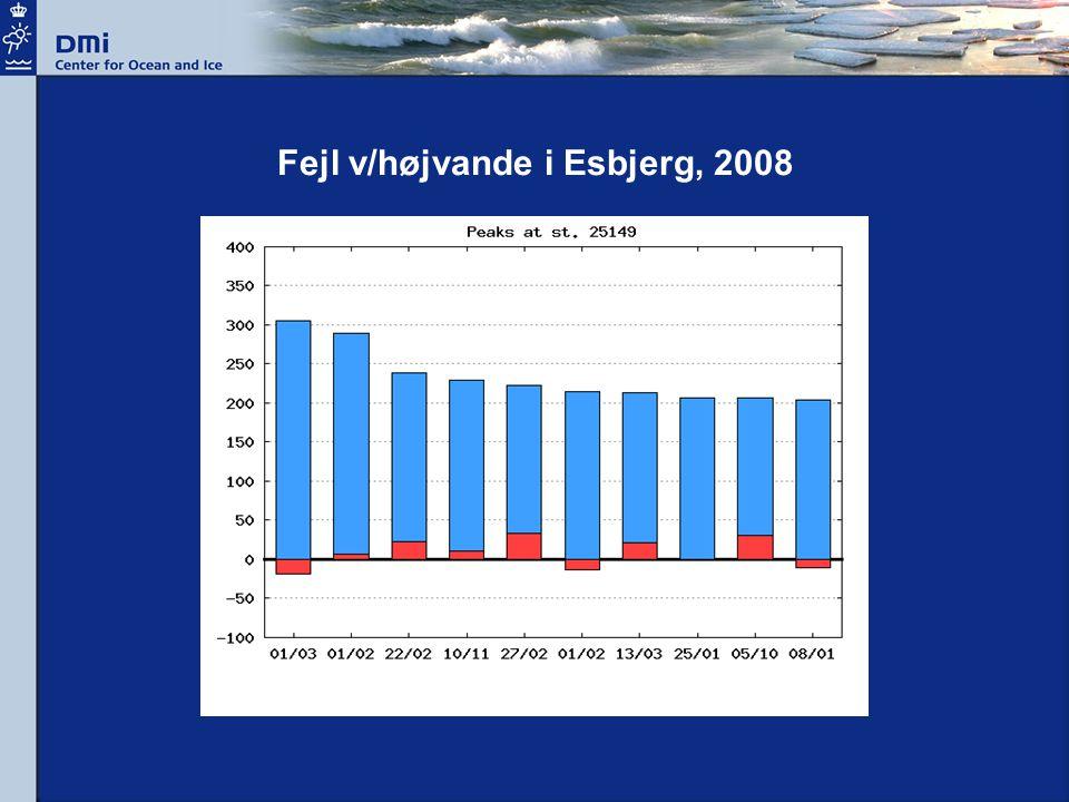 Fejl v/højvande i Esbjerg, 2008