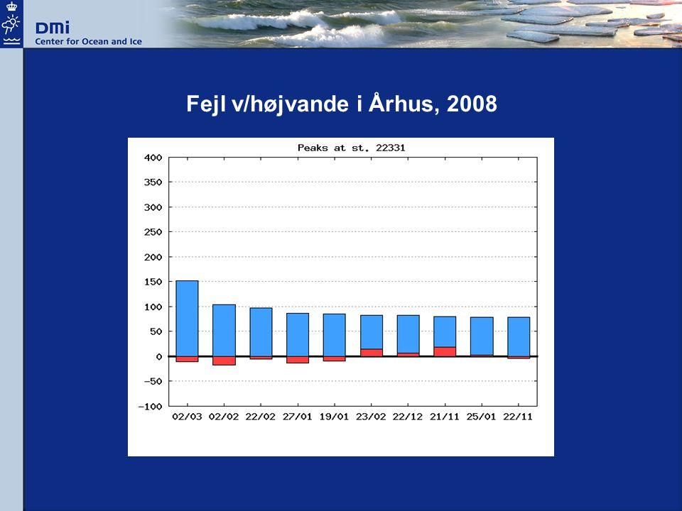 Fejl v/højvande i Århus, 2008