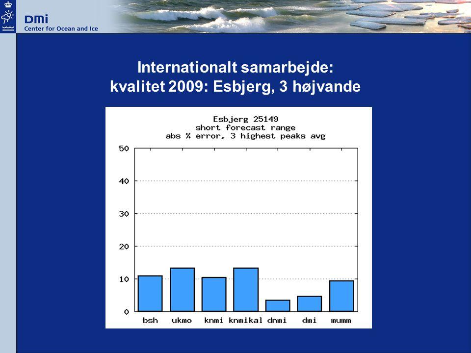 Internationalt samarbejde: kvalitet 2009: Esbjerg, 3 højvande