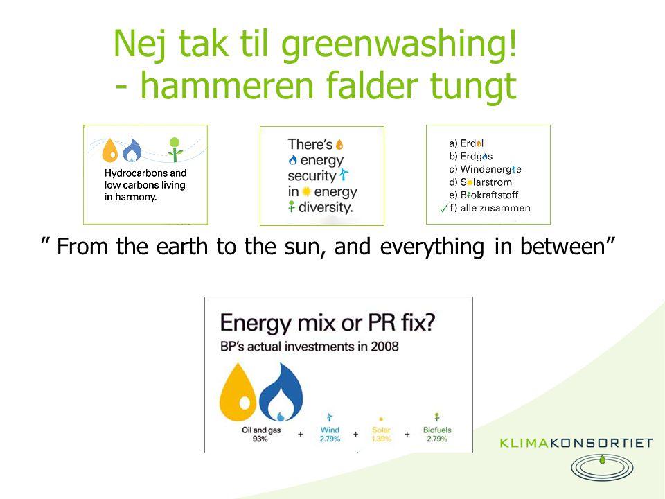 Nej tak til greenwashing.