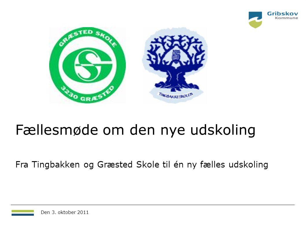 Fællesmøde om den nye udskoling Fra Tingbakken og Græsted Skole til én ny fælles udskoling 18.