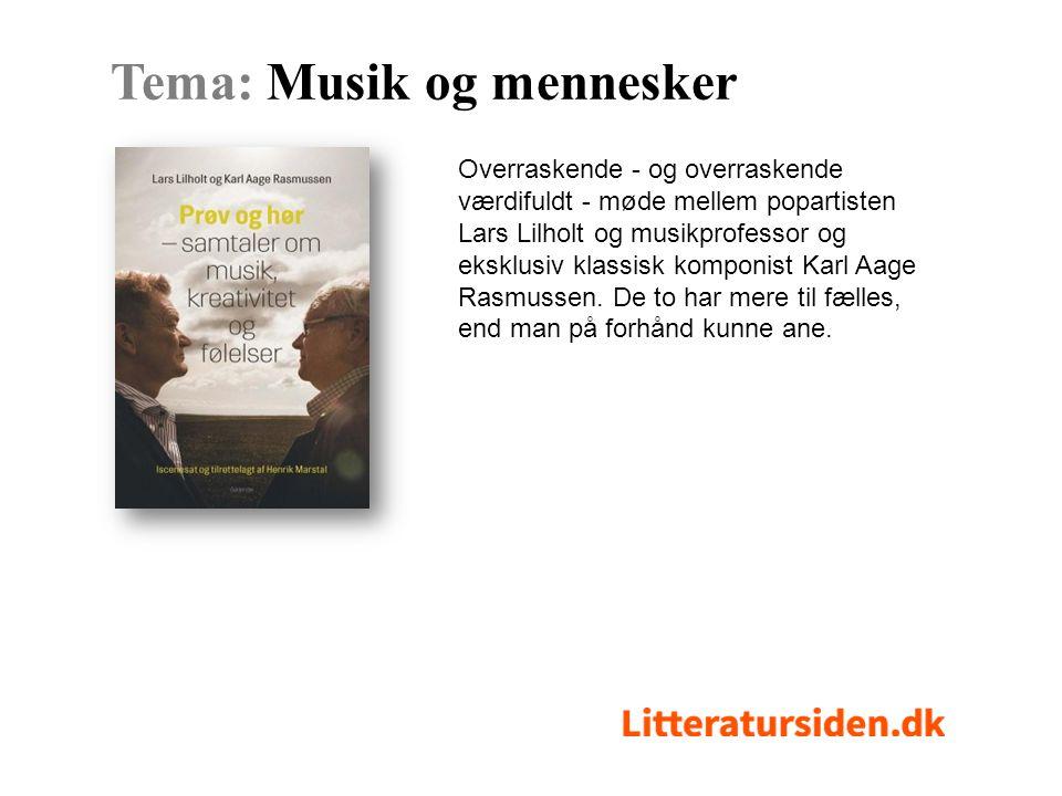 Overraskende - og overraskende værdifuldt - møde mellem popartisten Lars Lilholt og musikprofessor og eksklusiv klassisk komponist Karl Aage Rasmussen.