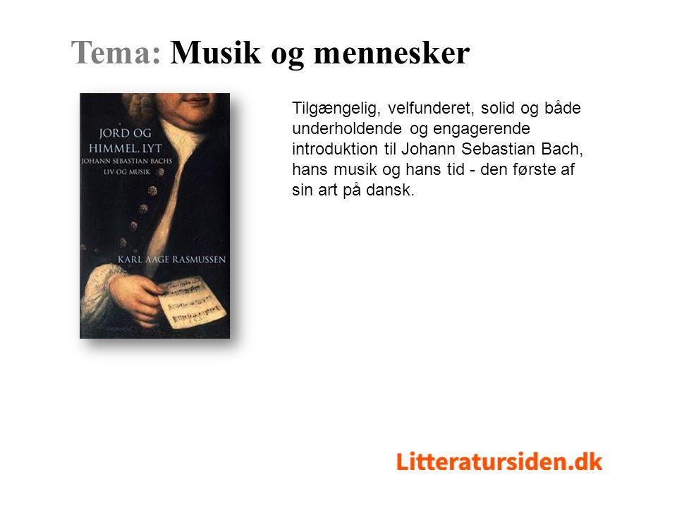 Tilgængelig, velfunderet, solid og både underholdende og engagerende introduktion til Johann Sebastian Bach, hans musik og hans tid - den første af sin art på dansk.