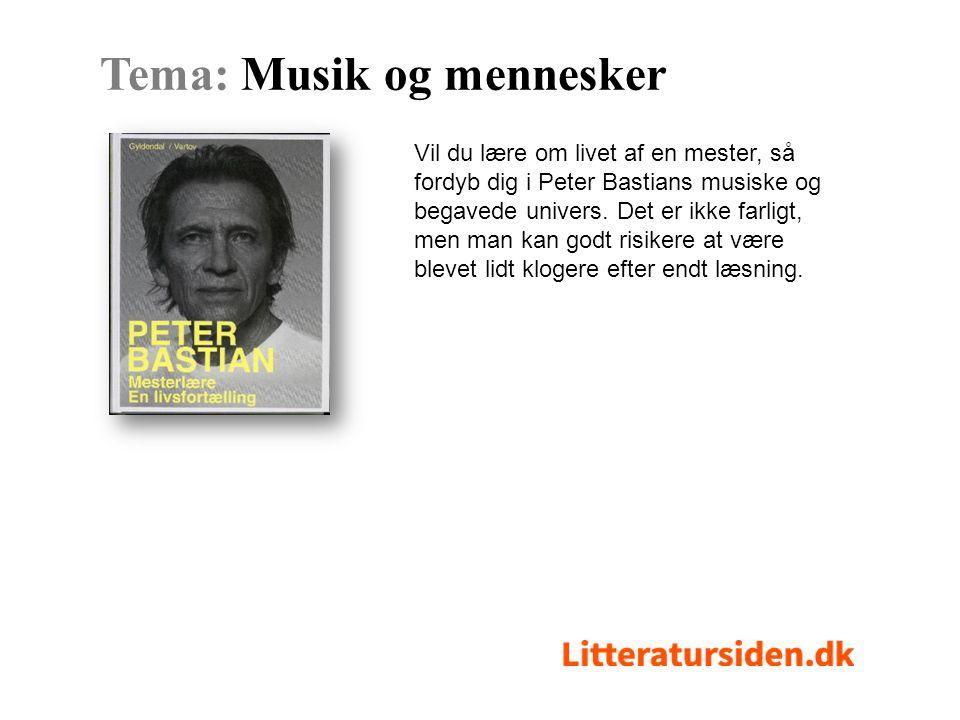 Vil du lære om livet af en mester, så fordyb dig i Peter Bastians musiske og begavede univers.