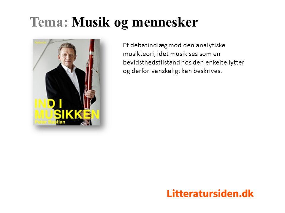 Et debatindlæg mod den analytiske musikteori, idet musik ses som en bevidsthedstilstand hos den enkelte lytter og derfor vanskeligt kan beskrives.