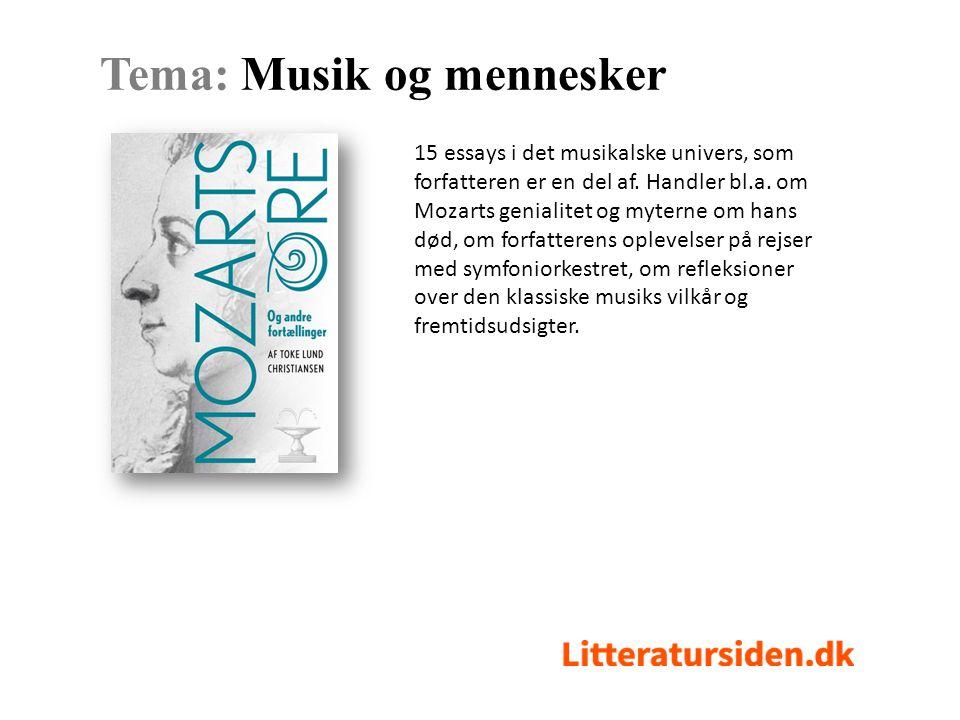 15 essays i det musikalske univers, som forfatteren er en del af.