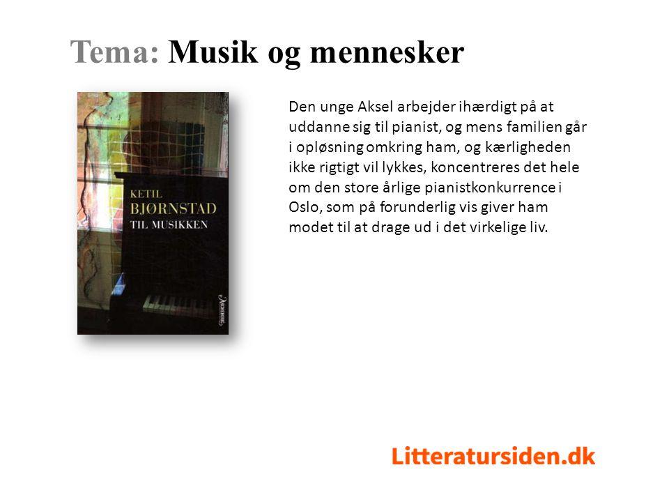 Den unge Aksel arbejder ihærdigt på at uddanne sig til pianist, og mens familien går i opløsning omkring ham, og kærligheden ikke rigtigt vil lykkes, koncentreres det hele om den store årlige pianistkonkurrence i Oslo, som på forunderlig vis giver ham modet til at drage ud i det virkelige liv.