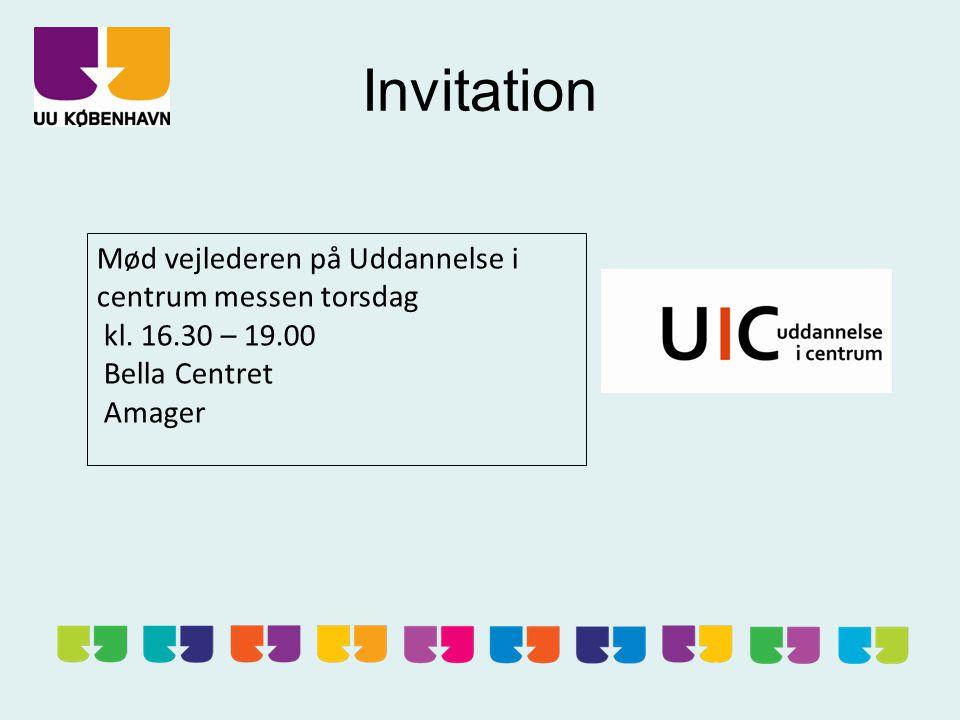Invitation Mød vejlederen på Uddannelse i centrum messen torsdag kl.