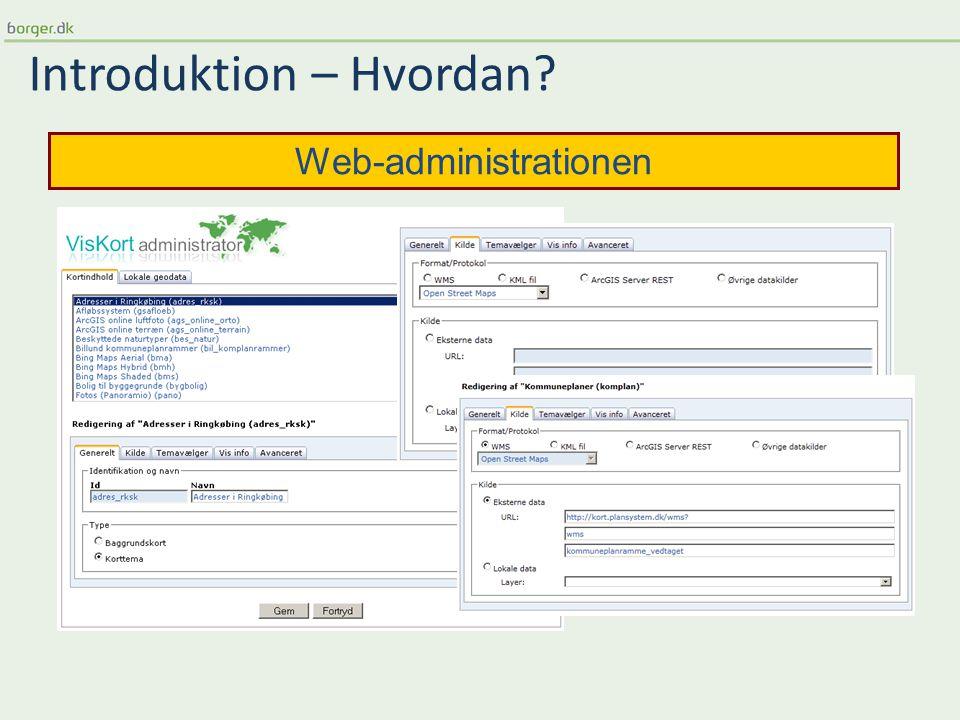 Introduktion – Hvordan Web-administrationen