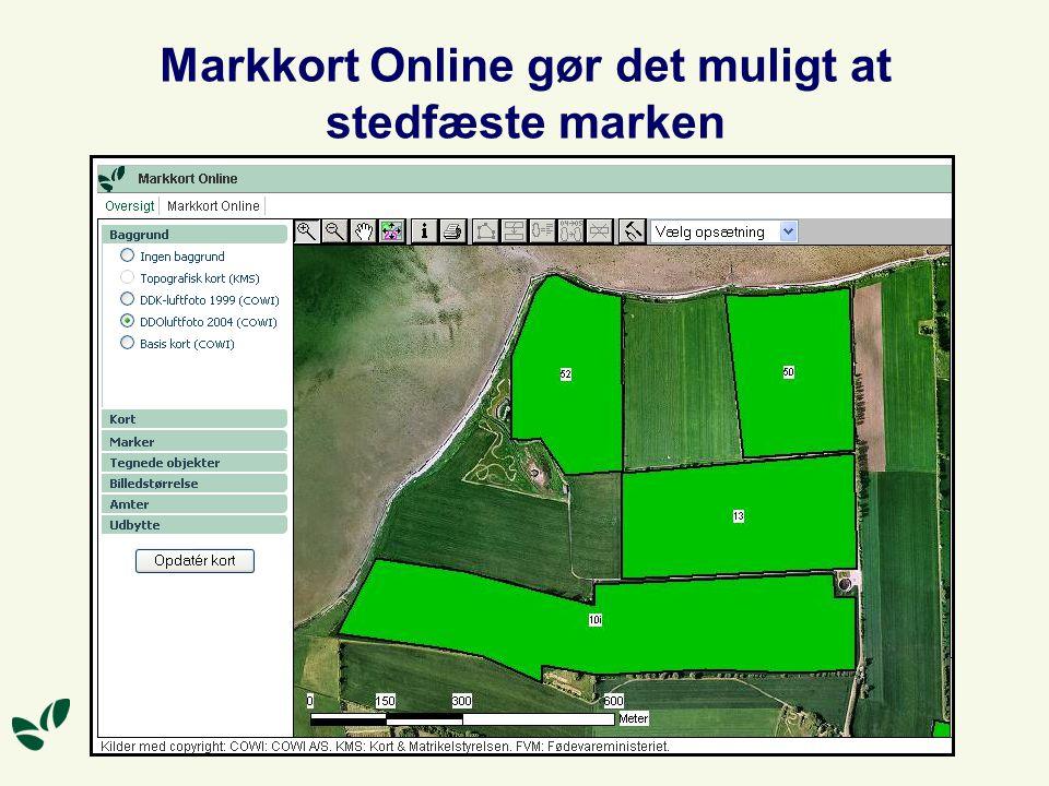 Markkort Online gør det muligt at stedfæste marken