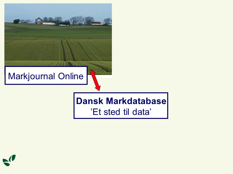 Dansk Markdatabase 'Et sted til data' Markjournal Online