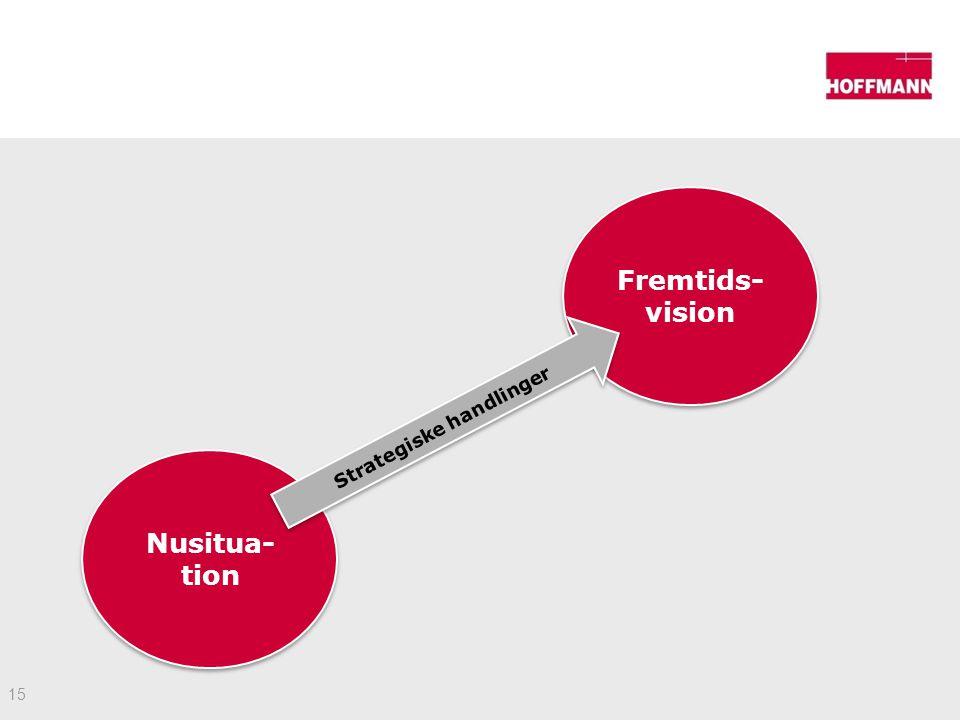 15 Nusitua- tion Fremtids- vision Strategiske handlinger