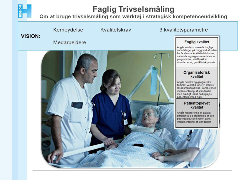 KerneydelseKvalitetskrav3 kvalitetsparametre VISION: Medarbejdere Faglig Trivselsmåling Om at bruge trivselsmåling som værktøj i strategisk kompetenceudvikling