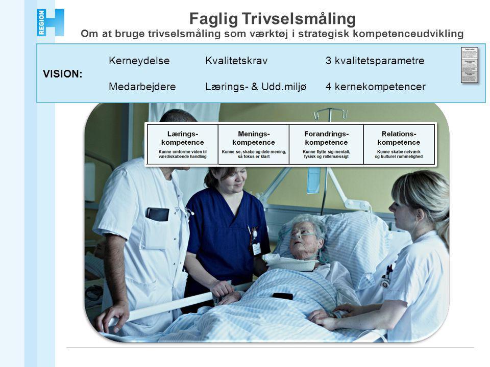 KerneydelseKvalitetskrav3 kvalitetsparametre VISION: MedarbejdereLærings- & Udd.miljø4 kernekompetencer Faglig Trivselsmåling Om at bruge trivselsmåling som værktøj i strategisk kompetenceudvikling