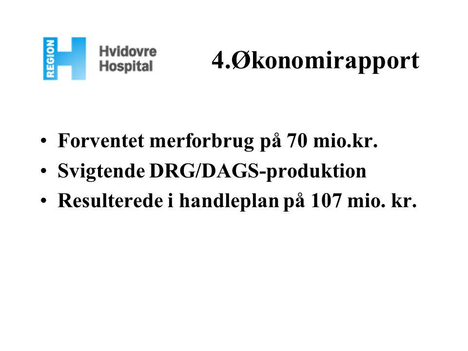 4.Økonomirapport Forventet merforbrug på 70 mio.kr.