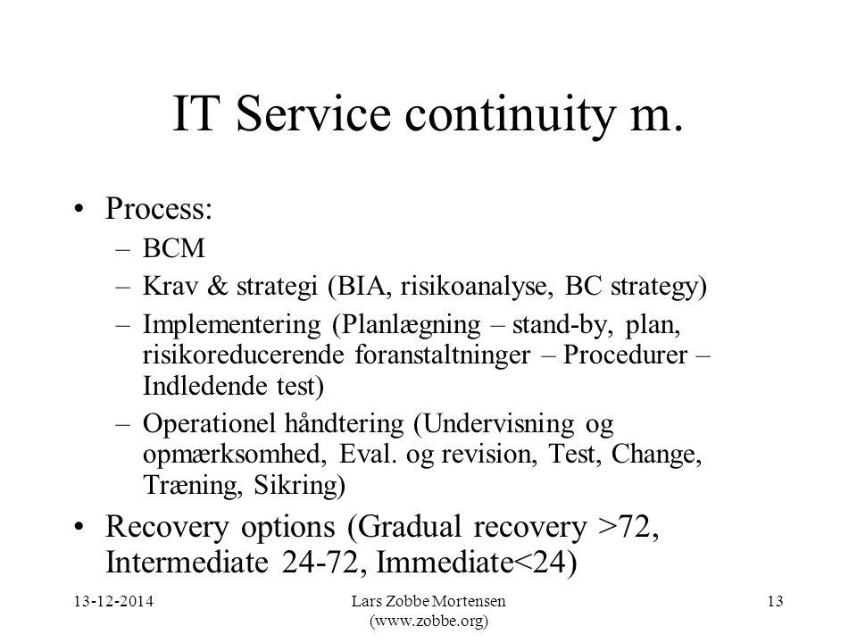 IT Service continuity m.