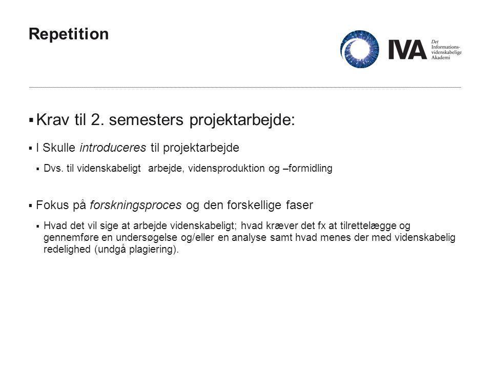 Repetition  Krav til 2.