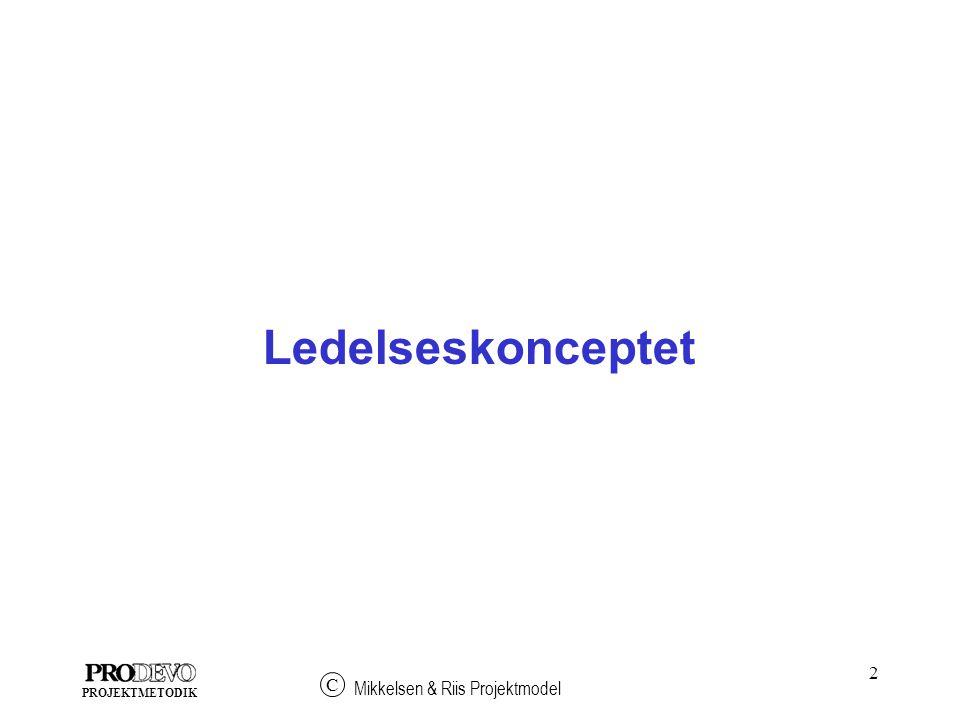 2 Mikkelsen & Riis Projektmodel C PROJEKTMETODIK Ledelseskonceptet
