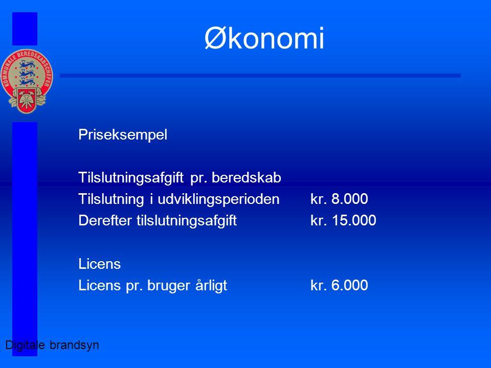Økonomi Digitale brandsyn Priseksempel Tilslutningsafgift pr.