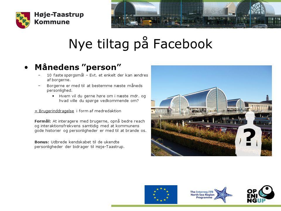 Nye tiltag på Facebook Månedens person –10 faste spørgsmål – Evt.