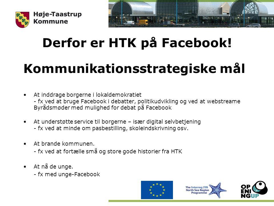 Derfor er HTK på Facebook.