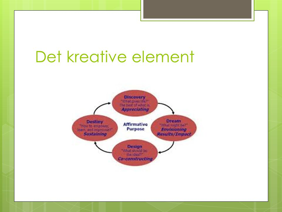 Det kreative element
