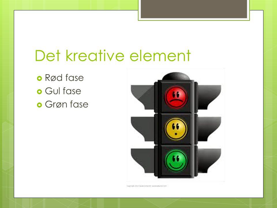  Rød fase  Gul fase  Grøn fase