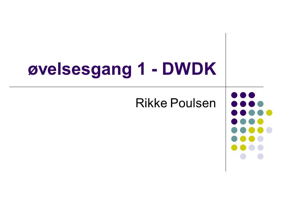 øvelsesgang 1 - DWDK Rikke Poulsen