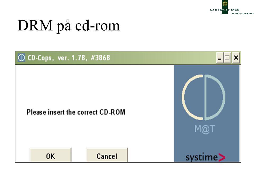 DRM på cd-rom