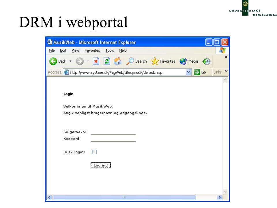 DRM i webportal