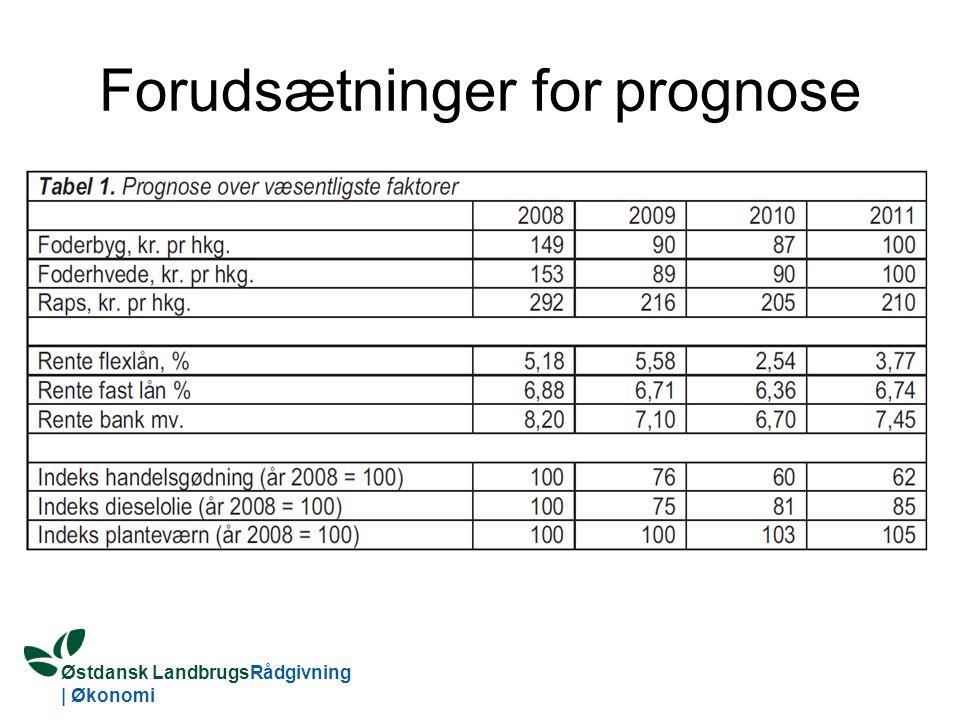 Østdansk LandbrugsRådgivning | Økonomi Forudsætninger for prognose