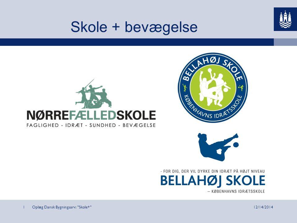 Oplæg Dansk Bygningsarv: Skole+ 112/14/2014 Skole + bevægelse